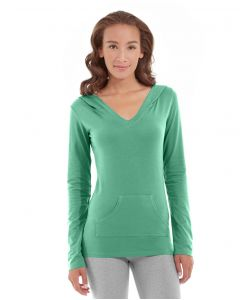 Eos V-Neck Hoodie-XS-Green